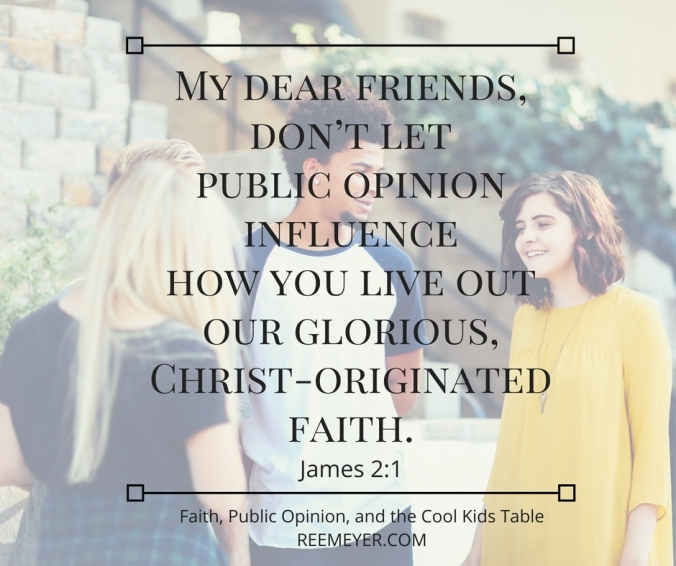 How do we honor Jesus, love our neighbor, and fight against the need to be included and liked, the need to be popular?