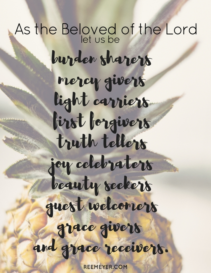 The Beloved of the Lord Pineapple Print (1)