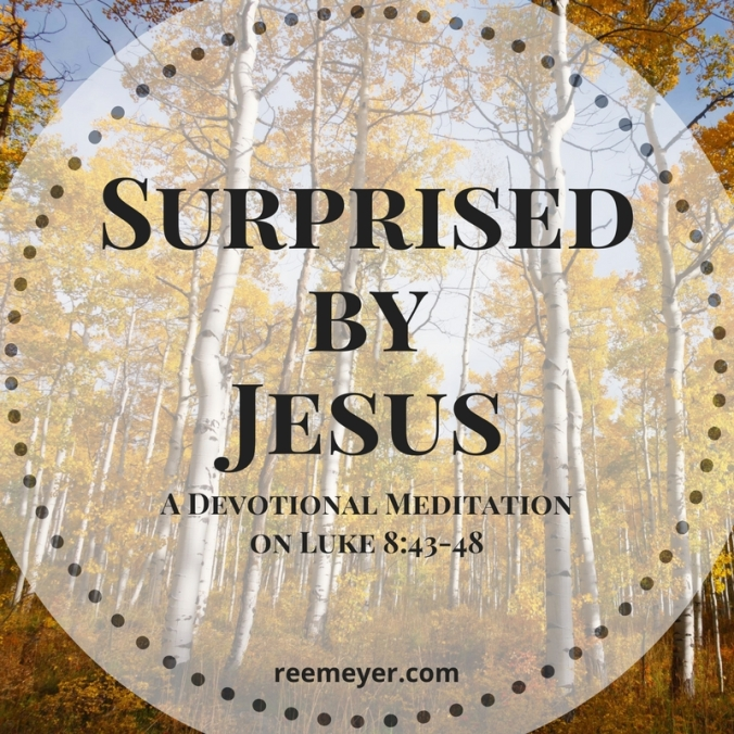 Surprised by Jesus: A Devotional Meditation on Luke 8:43-48