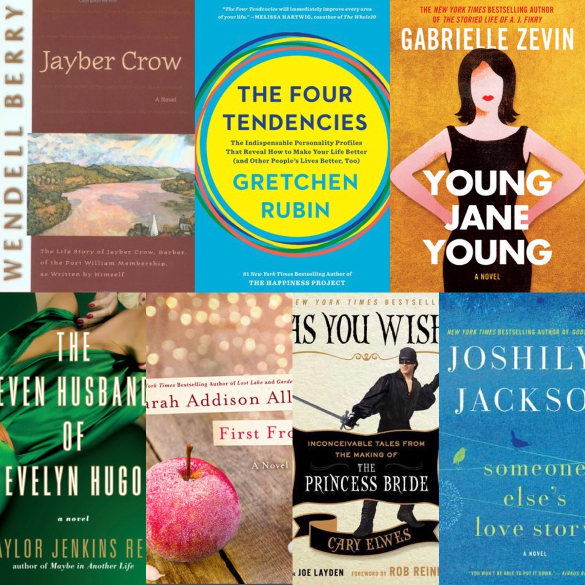 October Book Reviews: Jayber Crow, The Four Tendencies, Young Jane Young, The Seven Husbands of Evelyn Hugo, First Frost, As You Wish, Someone Else's Love Story