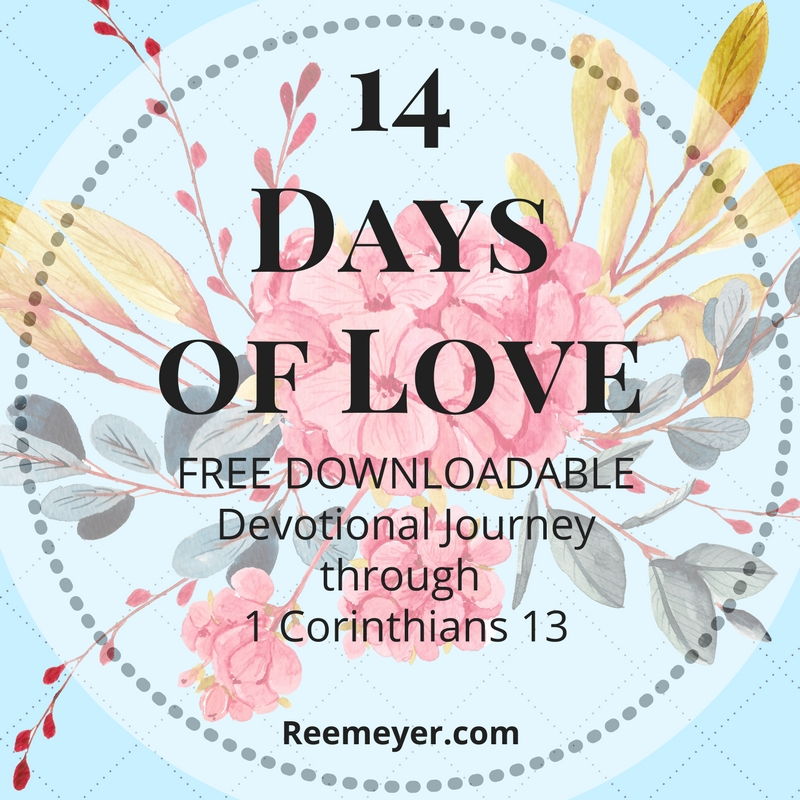 Spend a couple of weeks thinking about God's love, and asking how you can RECEIVE God's love and OFFER love to others.