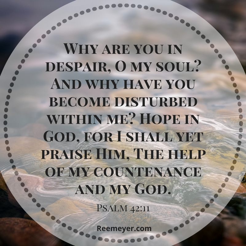 What do we do with our negative emotions? Psalm 42 teaches us to run, desperately to God with our anger, fear, confusion, disappointment. And to say to our souls: Hope in God.
