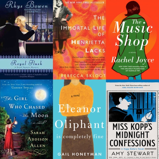 February Book Reviews from reemeyer.com: Her Royal Spyness, Immortal Life of Henrietta Lacks, The Music Shop, The Girl Who Chased the Moon, Eleanor Oliphant is Completely Fine, Miss Kopp's Midnight Confessions