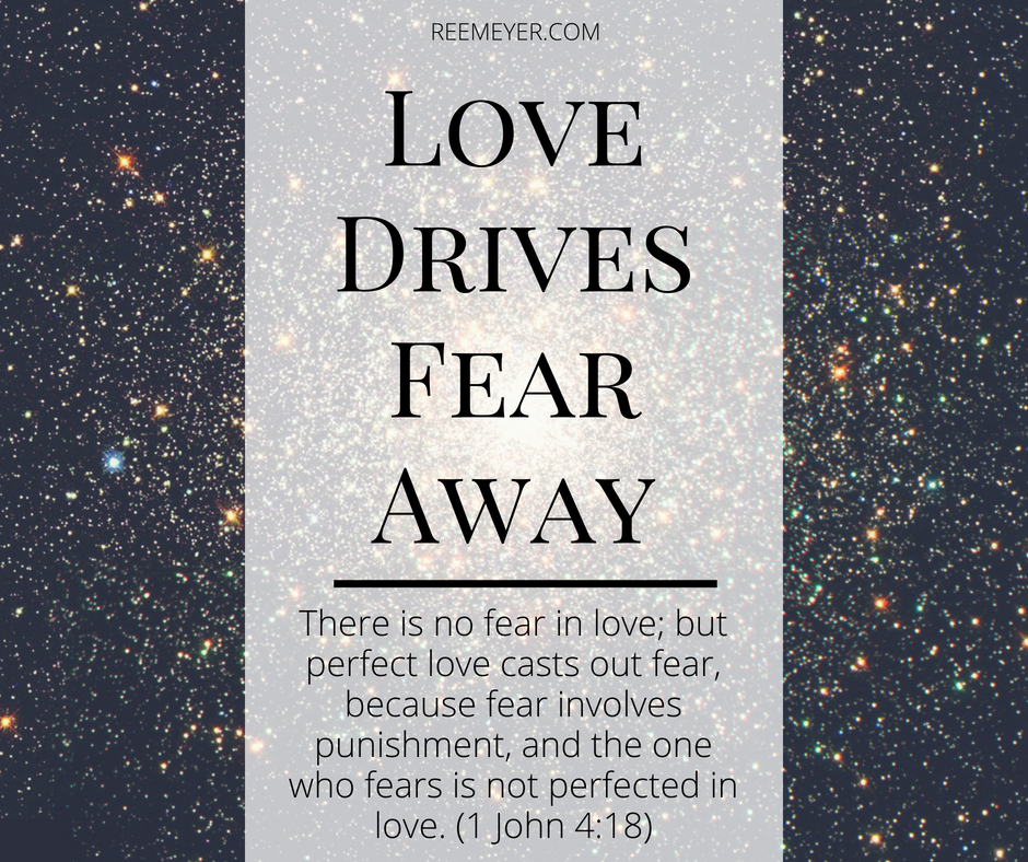 "So much in our lives tempts us to look at obstacles, at our lack, at the things we fear. And God invites us to look to Him, to look to love.  ""There is no fear in love; but perfect love casts out fear, because fear involves punishment, and the one who fears is not perfected in love."" (1 John 4:18)"